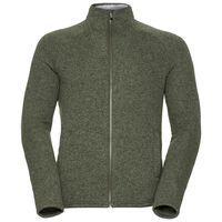 Midlayer full zip Sherpa Jacket, winter moss melange, large