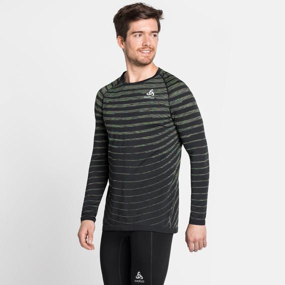 Men's BLACKCOMB PRO Long-Sleeve T-Shirt, black - space dye, large