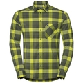 Herren NIKKO CHECK Hemd, acid lime - four leaf clover - climbing ivy - check, large
