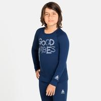 ACTIVE WARM ECO TREND KIDS Baselayer-Oberteil, estate blue - graphic FW20, large