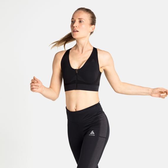 Women's SEAMLESS HIGH Sports Bra, black, large