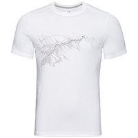 F-DRY PRINT Baselayer T-Shirt, white - mountain print SS19, large