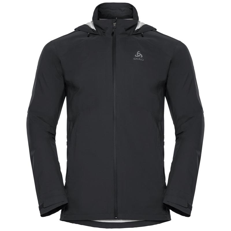 Men's WATERTON STRETCH Hardshell Jacket, black, large