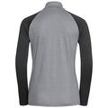 Midlayer 1/2 zip PAZOLA, grey melange - odlo graphite grey, large