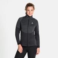 Pull technique à zip intégral MILLENIUM YAKWARM pour femme, black melange, large