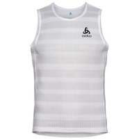 Men's ZEROWEIGHT Cycling Base Layer Singlet, white - odlo silver grey, large