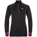Midlayer 1/2 zip GOD JUL, black - magenta purple, large
