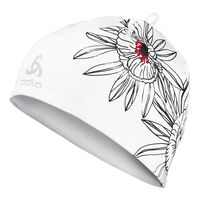 Hat POLY LO, white - print, large