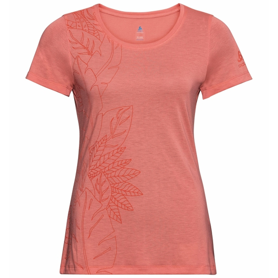 Women's CONCORD ELEMENT T-Shirt, lantana - flower leaf print SS20, large