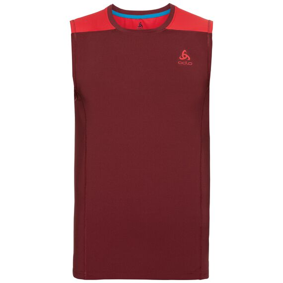 BL Top Crew neck s/l CERAMICOOL, syrah - fiery red, large