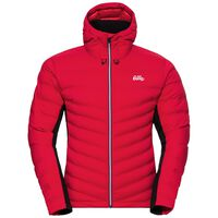 Jacket insulated JOHS COCOON, chinese red - black, large