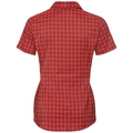 Blouse KUMANO CHECK, red dahlia - fiery red - check, large
