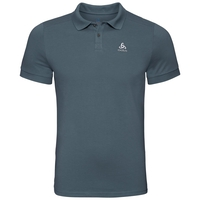 NEW TRIM Poloshirt, dark slate, large