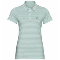 Polo shirt s/s SIGNO, surf spray - creme de menthe - Stripes, large