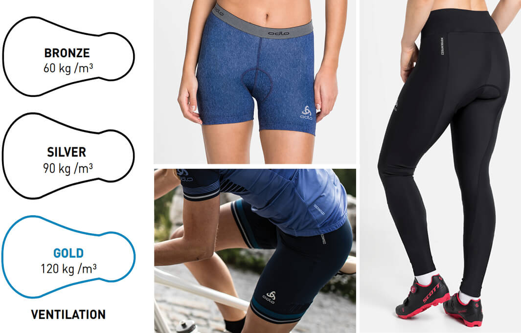 Cycling shorts for a comfortable fit