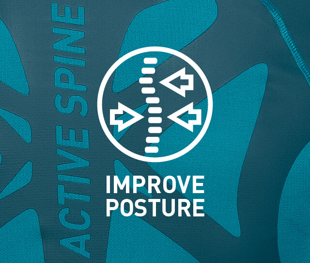 Active Spine - The most innovative next-to skin performance base layer on the market. Engineered to ensure dynamic posture control during and after sports for improved athletic performance.