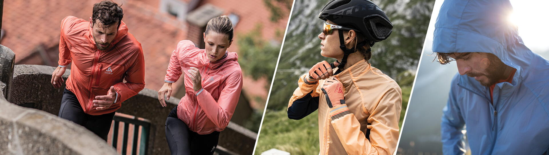ODLO jackets collection - Rain jacket, windbreaker & insulation jacket - Collection Spring-Summer 2020