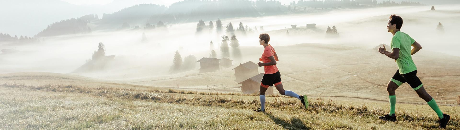Trail running-specific apparel.