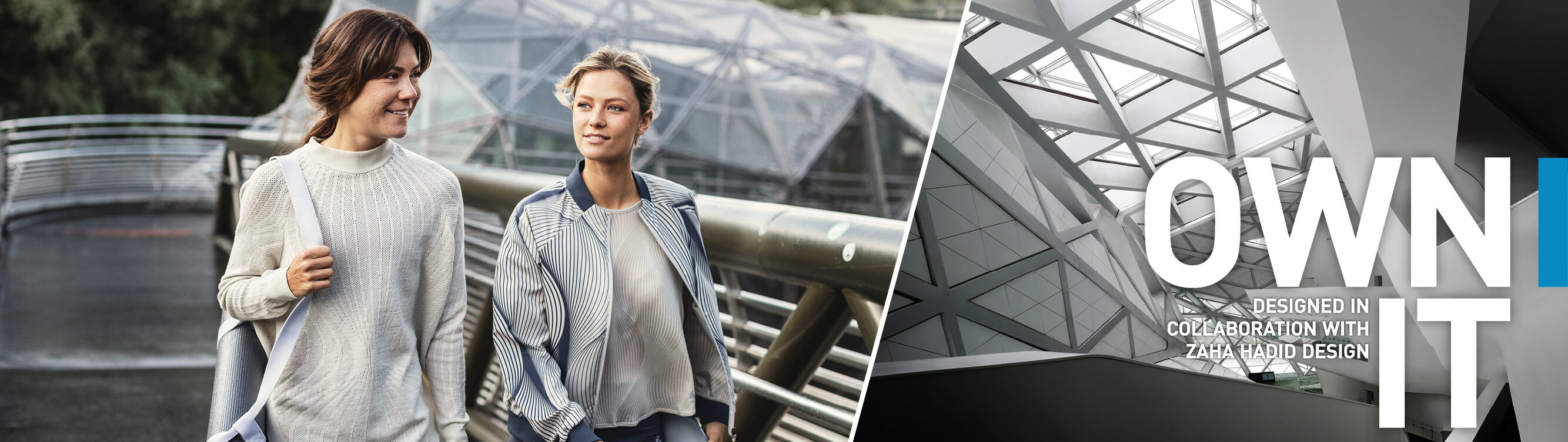 ODLO Women Activewear collection designed in collaboration with Zaha Hadid Design