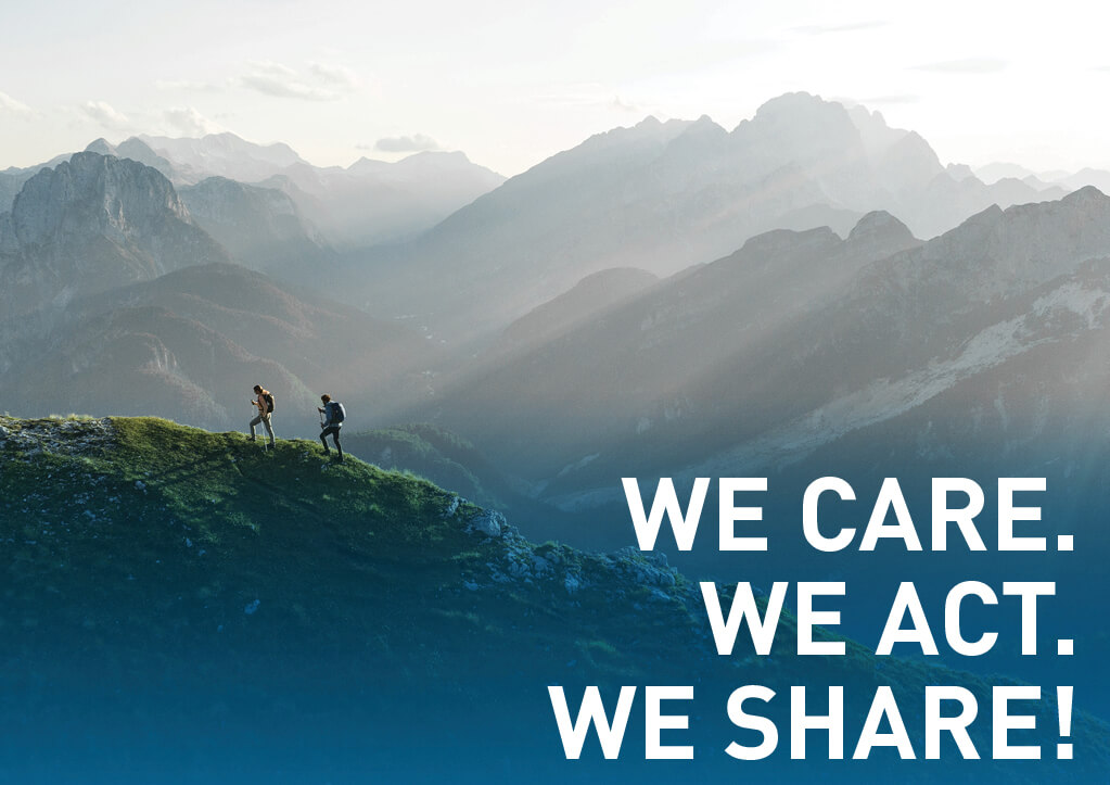 Sustainability - We Care. We Act. We Share.
