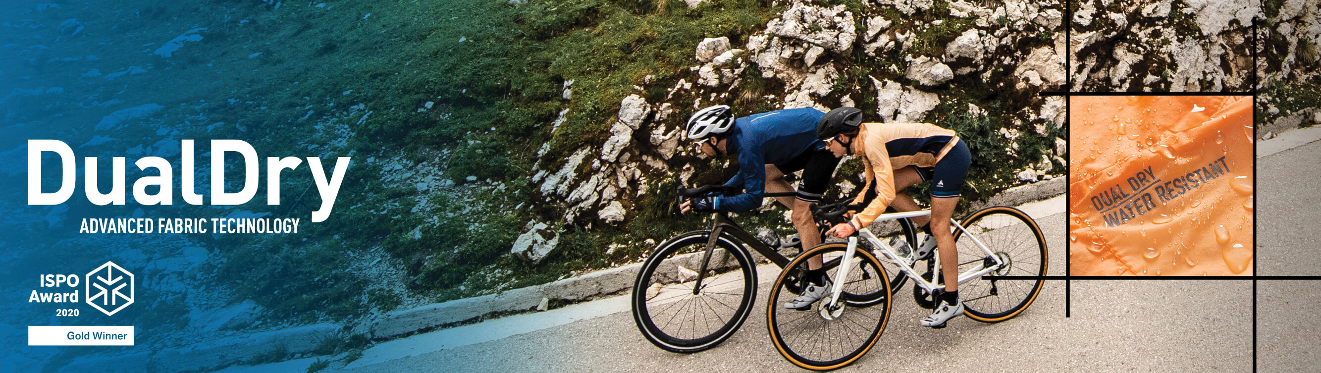 ODLO ISPO Awarded New Technology DualDry Waterproof and Water Resistant