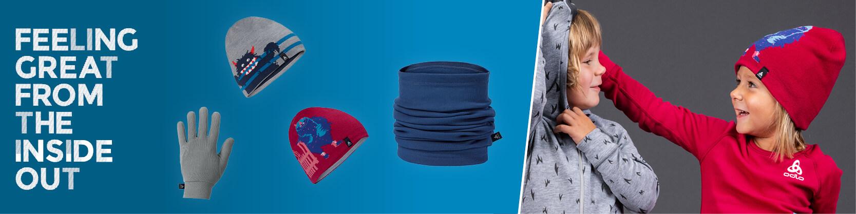 Odlo kids accessories, gloves, hats, tubes