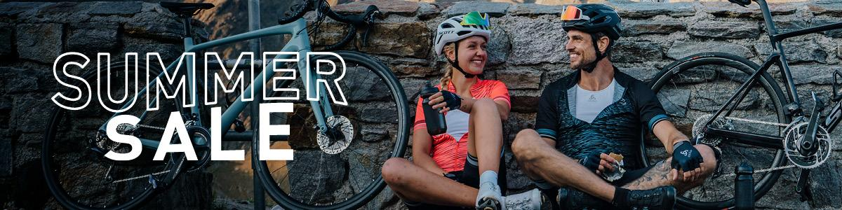 Men and women cycling apparel on sale