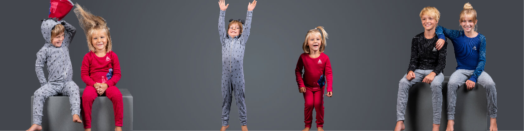 Odlo kids midlayer, baselayer, tops, pants