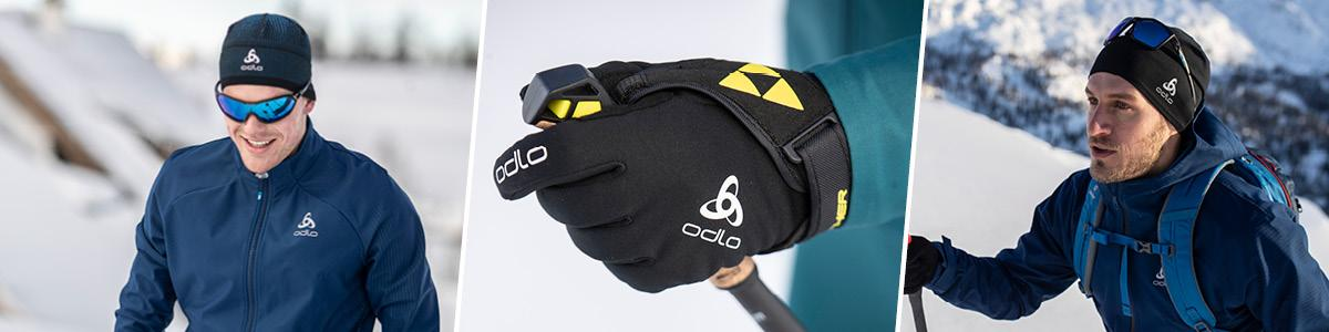 Odlo men accessories, gloves, hats, tubes