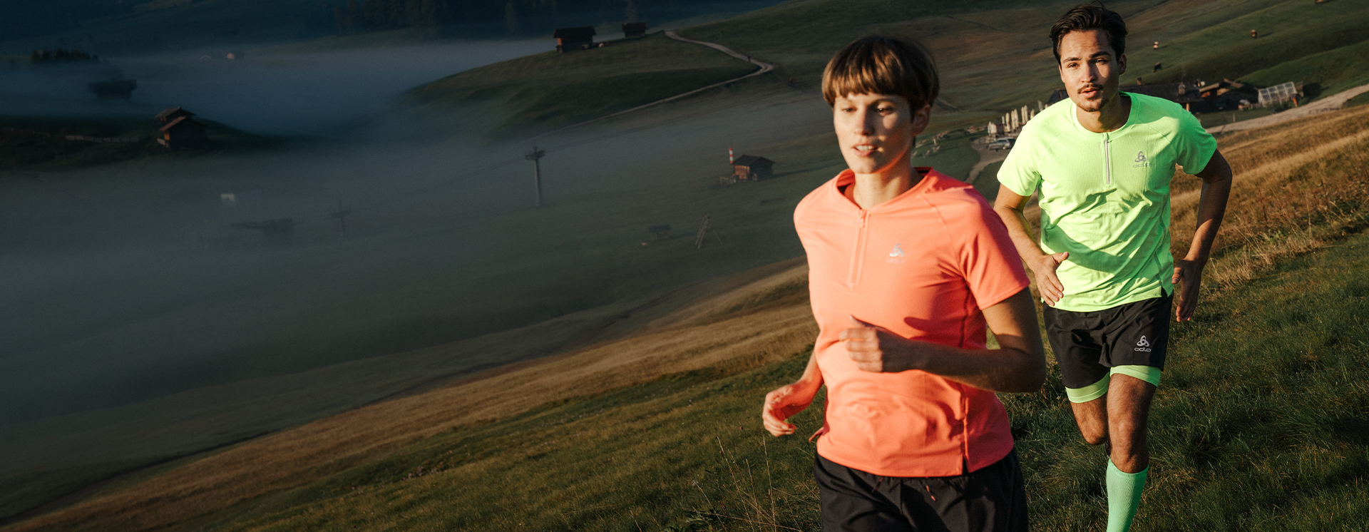 Functional performance wear made for off-road running.