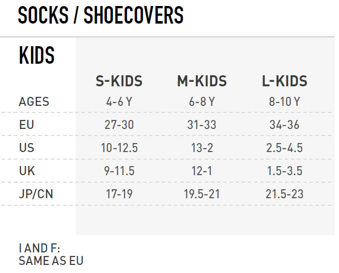 Kids Accessories Size Chart