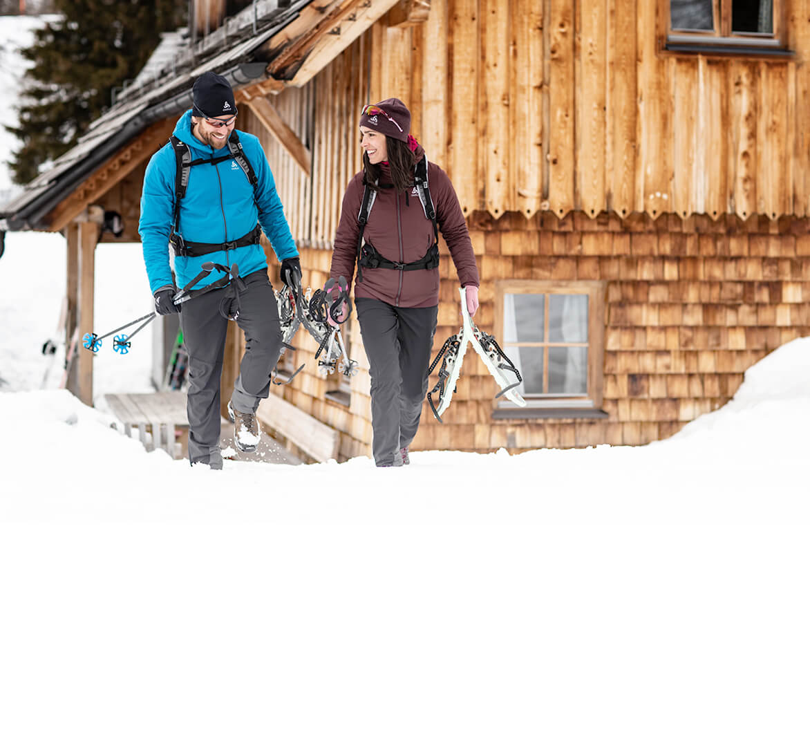 ODLO hiking trekking and snowshoeing clothes